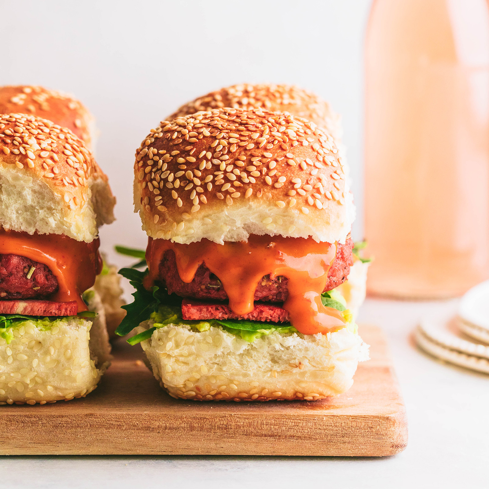 Plant-based Sliders with Mince and Bacon
