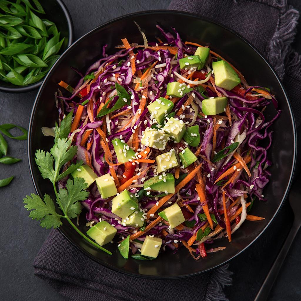 Pork Ribs with Rainbow Salad   – meat free